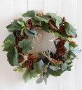 グリーンガーデンリースキット 40センチ リース手作りキット 玄関リース キット 材料 花材 マニュアル 造花リース グリーンナチュラル…