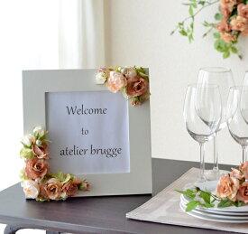 ウェルカムボード 手作りキット 造花 写真たて 手作りキット材料 マニュアル ウェルカムボード フォトフレーム ブライダル ウェルカムボード ウエディング パーティー 結婚のお祝い 出産祝い アーティフィシャルフラワー 結婚式 誕生日 ギフト