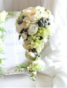ウェディングブーケ キット 1番人気 ノーブルローズ ブーケ キャスケードブーケ 造花 ブーケ 手作りキット 白 造花 材料 ウエディングブーケ ブライダルブーケ ハンドメイド 結婚式 ギフト