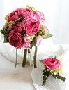 ナチュラルローズブーケキット 造花ブーケ 手作りキット ブーケ ブートニア セット ブーケ ピンク 造花 材料 マニュアル ウエディング…