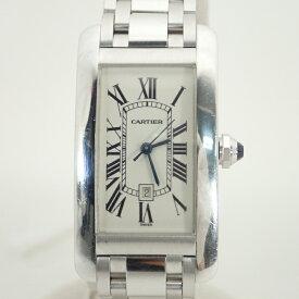 カルティエ【CARTIER】K18WG(750)タンクアメリカンMMメンズ自動巻腕時計【中古】