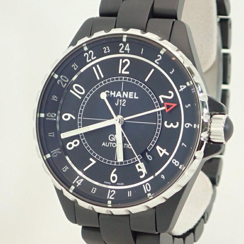 シャネル【CHANEL】J12GMTマットブラックセラミック41mmメンズ自動巻*H3101腕時計オートマチック【中古】