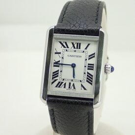 カルティエ【CARTIER】タンクソロSMクォーツSS/レザーベルト*W5200005腕時計【中古】