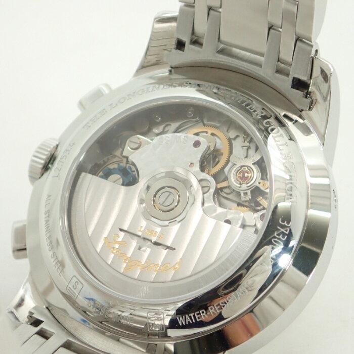 ロンジン【LONGINES】SSサンティミエクロノグラフメンズ自動巻腕時計*L2.753.4【中古】
