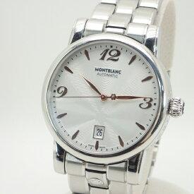 モンブラン【MONTBLANC】SSスターデイトメンズ自動巻シースルーバック腕時計*MB105961【中古】