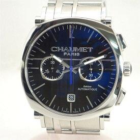 ショーメ【CHAUMET】ダンディSSクロノエクストララージメンズ自動巻き腕時計オートマ*W11690-30A【中古】