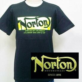 ノートン Norton ネオンロゴ半袖Tシャツ 182N1022 アメカジ バイカー ロッカーズ