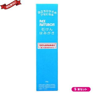歯磨き粉 フッ素フリー フッ素なし パックス ナチュロン 石けんはみがき 120g 5本セット