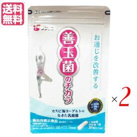 カスピ海ヨーグルトの乳酸菌サプリ フジッコ 善玉菌のチカラ 31粒 2袋セット