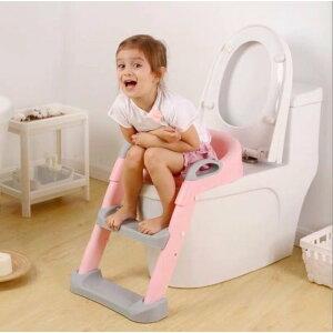 補助便座 子供 トイレトレーニング おまる トイレ 補助 折りたたみ式 踏み台 ステップ ピンク