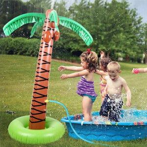噴水マット おもちゃ 噴水 プレイマット 椰子の木 子供 親子 大人 水遊び 芝生遊び プールマット 家庭用 夏対策 ツリー ココナッツ 庭 シャワ