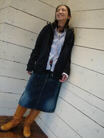 * OMNIGOD(オムニゴッド) * 57-049D * 定番デニムAラインスカート「富士山」