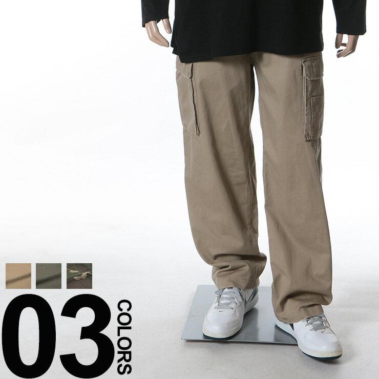 大きいサイズ メンズ B&T CLUB(ビーアンドティークラブ)綿100% ボーダーベルト付き ジップフライ カーゴパンツ[3L 4L 5L 6L 7L 8L 9L 10L 相当]サカゼン ビッグサイズ カジュアル ボトムス ベルト コットン100%(ズボン カジュアルパンツ パンツ ワイドパンツ)