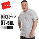 大きいサイズ メンズ Hanes (ヘインズ) BEEFY 無地 丸首 半袖 Tシャツ [XL-5XL] サカゼン