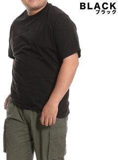 大きいサイズメンズHanes(ヘインズ)BEEFY無地丸首半袖Tシャツ