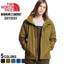 THE NORTH FACE (ザ ノースフェイス) ナイロン100% 胸ロゴ刺繍 フード付き フルジップ ジャケット RESOLVE 2 JACKET DRYVENT メンズ カジュアル 男性 メン