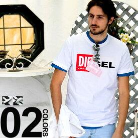 ディーゼル DIESEL Tシャツ 半袖 ボックスロゴ めくりデザイン プリント ブランド メンズ DSS02X091B インポート メンズブランド サカゼン