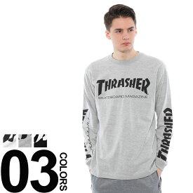 スラッシャー Tシャツ THRASHER ロンT 長袖 Tシャツ スリーブ プリント デザイン MAGメンズ カジュアル 男性 ファッション トップス 長袖 TH8301S