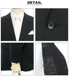 メンズスーツ大きいサイズオールシーズン対応フォーマルシングル2つボタンワンパンツブラック