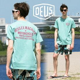 Deus Ex Machina (デウスエクスマキナ) Tシャツ コットン100% ロゴ プリント クルーネック 半袖メンズ カジュアル 男性 メンズファッション クルーネック ティーシャツ DMS71885B