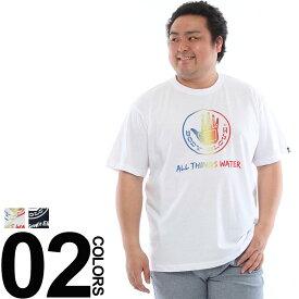 大きいサイズ メンズ 半袖Tシャツ BODY GLOVE (ボディーグローブ) ブランドロゴ プリント クルーネック 半袖 Tシャツ [3L 4L 5L 6L] 大きいサイズtシャツのサカゼン