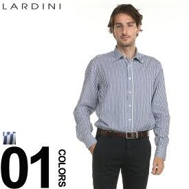ラルディーニ シャツ LARDINI ストライプ ネイビー ブートニエール 長袖 ドレスシャツ ブランド メンズ 紳士 ビジネス ワイシャツ LDDANTEIGC829