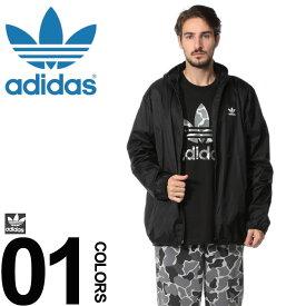 adidas (アディダス) 胸ロゴ フーディー フルジップ ウィンドブレーカーメンズ 男性 カジュアル ファッション アウター スポーツ フード ダブルジップ シンプル ADDH5807