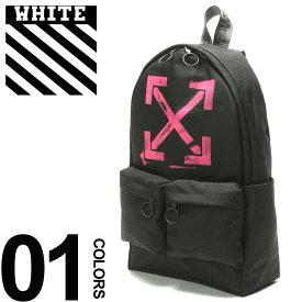 36663c85e960 OFF-WHITE (オフホワイト) プリント ジップポケット バックパック ARROWSブランド メンズ 男性