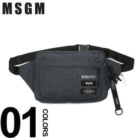 MSGM (エムエスジーエム) EASTPAKコラボ ロゴ ボディバッグブランド メンズ 男性 カジュアル ファッション 小物 バッグ 鞄 コラボ イーストパック ストリート MS2540MZ250