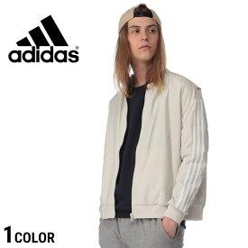 アディダス ジャケット adidas ボンバージャケット スリーライン 袖ライン フルジップ ウーブン WHITEレディース メンズ ユニセックス カジュアル 男性 ファッション トップス アウター ブルゾン シンプル スポーティ FTK82DV0632