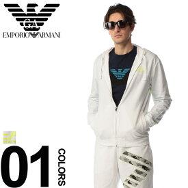 6802992c71 ... 綿100% バックビックロゴ フルジップ パーカーブランド メンズ 男性 カジュアル ファッション トップス スポーツ コットン プリント  フード EA3GPM15PJ05Z