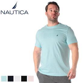 半袖 Tシャツ 大きいサイズ メンズ 綿100% 胸ロゴ刺繍 クルーネック サックス/ネイビー 1XL 2XL NAUTICA 大きいサイズtシャツのサカゼン