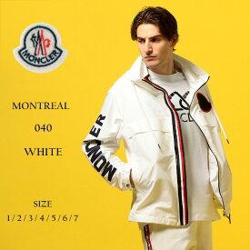 モンクレール メンズ MONCLER (モンクレール) ビックロゴ トリコロールジップ ブルゾン MONTREAL WHITEブランド メンズ 男性 カジュアル ファッション アウター フード アームロゴ プリント 春物 MCMONTREAL9