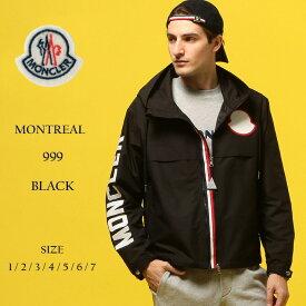モンクレール メンズ MONCLER (モンクレール) ビックロゴ トリコロールジップ ブルゾン MONTREAL BLACKブランド メンズ 男性 カジュアル ファッション アウター フード アームロゴ プリント 春物 MCMONTREAL9