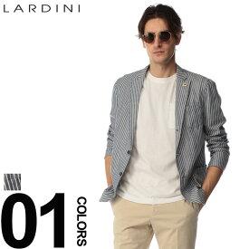 LARDINI (ラルディーニ) 綿100% ストライプ 段返り3つ釦 シャツジャケットブランド メンズ 男性 カジュアル ファッション アウター テーラード コットン サマージャケット LDCM25RS52561