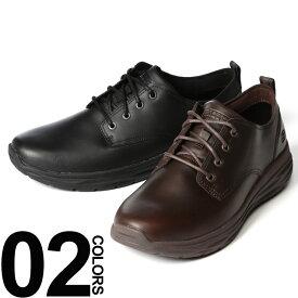 【ポイント5倍対象】 スケッチャーズ カジュアルシューズ 大きいサイズ メンズ 靴 オイルレザー レースアップ ブラック/ダークブラウン 29.0-30.0cm SKECHERS HARSEN-ARTSON