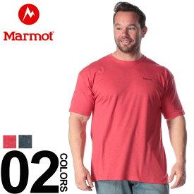 Tシャツ 半袖 大きいサイズ メンズ バックプリント クルーネック レッド/ネイビー 1XL 2XL Marmot 大きいサイズtシャツのサカゼン
