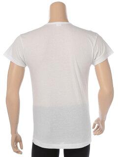 肌着Tシャツ1分袖大きいサイズメンズ春夏対応HYBRIDBIZ×BVD接触冷感綿100%Vネックアンダーシャツホワイト/ブラック3L-7LビーブイディB.V.D.