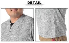 消臭抗菌ランダムテレコフェイクレイヤード半袖Tシャツ