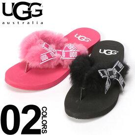UGG Australia (アグ オーストラリア) ファーストラップ ロゴリボン トングサンダル SUNSET GRAPHICブランド レディース 女性 カジュアル シューズ 靴 春夏 ビーチサンダル ふわふわ UGG1101046