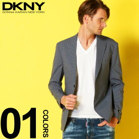 DKNY (ダナキャランニューヨーク) コットン 細ストライプ シングル 2ツ釦 ジャケットブランド メンズ 男性 紳士 カジュアル フォーマル テーラード 柄物 シングルジャケット 春物 DK43Y0061
