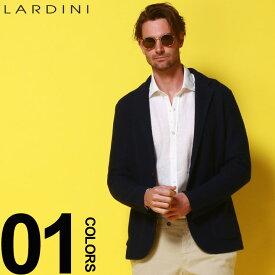 LARDINI (ラルディーニ) ブートニエール シングル 2ツ釦 ニットジャケットブランド メンズ 男性 紳士 カジュアル フォーマル ニット シングルジャケット 春夏 LDLJM1952004