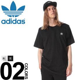 アディダス Tシャツ adidas 綿100% 胸ロゴ刺繍 クルーネック 半袖 Tシャツメンズ カジュアル 男性 ファッション トップス シャツ スポーティー シンプル 春夏 DV1576