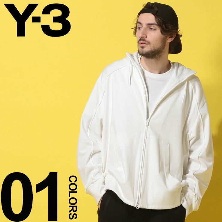 Y-3 (ワイスリー) 綿100% YOHJI YAMAMOTO スリーライン フルジップ パーカーブランド メンズ 男性 カジュアル ファッション トップス スウェット アディダス プリント コットン Y3DY7161