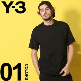 Y-3 (ワイスリー) 綿100% アームロゴ クルーネック 半袖 Tシャツ BLACKブランド メンズ 男性 カジュアル ファッション トップス シャツ アディダス シンプル 春夏 Y3DY7182