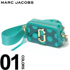 MARC JACOBS (マーク ジェイコブス) ダブルJロゴ ドットポーチ クリア スナップショット バッグ GREENブランド レディース カジュアル ファッション レザー 小さい コンパクト 鞄 ショルダー MJLM0014834446