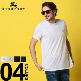 BURBERRY (バーバリー) 綿100% ワンポイント クルーネック 半袖 Tシャツブランド メンズ 男性 カジュアル ファッション トップス シャツ コットン シンプル 春夏 BB40618