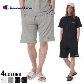 チャンピオン パンツ Champion ショートパンツ 綿100% 裾ロゴ刺繍 メンズ カジュアル 男性 ファッション ボトムス ショーツ コットン スポーティー 春夏 C3P501