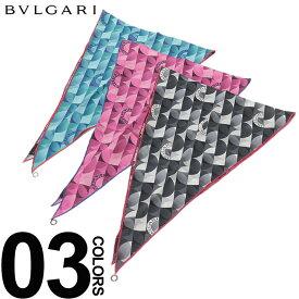 BVLGARI (ブルガリ) シルク100% ロゴ柄 スカーフブランド レディース 女性 カジュアル ギフト プレゼント シルク アクセサリー 春夏 BLG24349S9