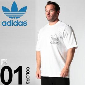 Tシャツ 半袖 大きいサイズ メンズ スポーツ 綿100% ロゴ刺繍 クルーネック ホワイト 1XL 2XL アディダス adidas 大きいサイズtシャツのサカゼン